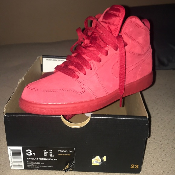 new product 807a9 7532b JORDAN 1 RETRO | RED SUEDE | NWT